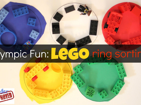 Indoor Activity: Olympic Ring Lego Sorting