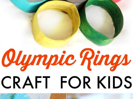 Arts & Crafts Cabin:  Olympic Rings