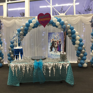 Frozen Theme Party Set Up