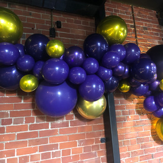 Purple Garland with Gold Accents