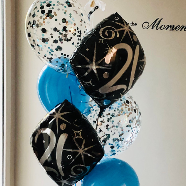 21st Blue and black