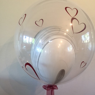 Custom decals on a bubble balloon
