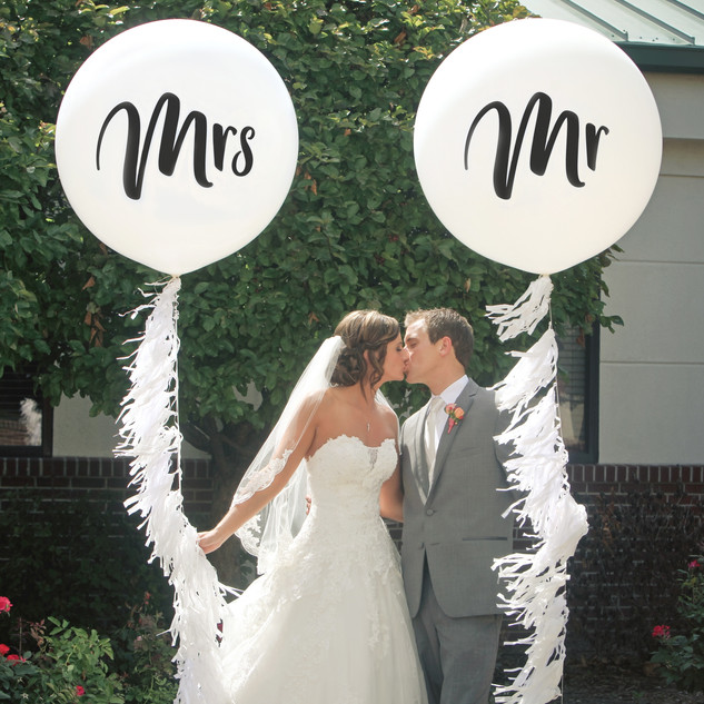 Mr and Mrs Giant Helium Filled Balloons