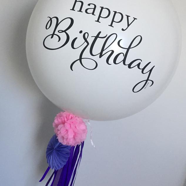 Happy Birthday 60cm Balloon with Embelishments