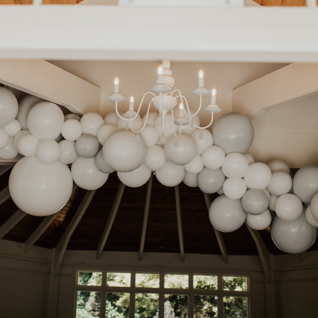 White with Shades of Gray Garland