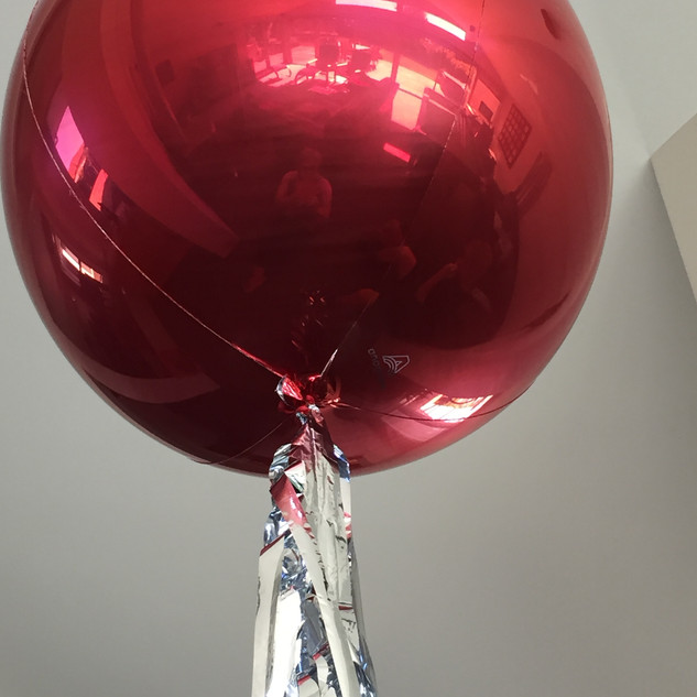 Red Orbz Balloon with Tassel