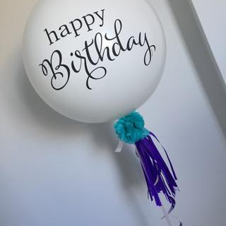 Happy Birthday 60cm Balloon with Emblishments