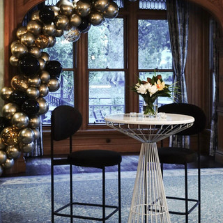 Black and Chrome Gold Garland