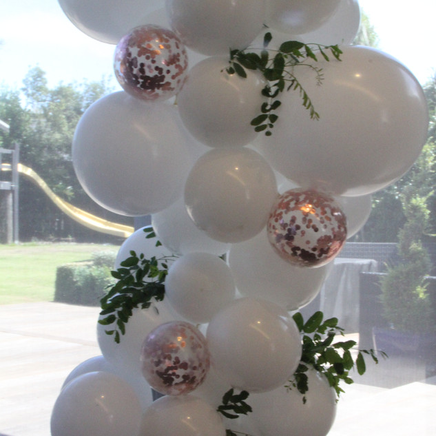 Organic Garland with Florals and Confetti