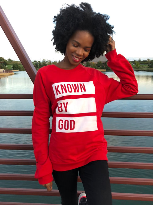 """""""Known by God""""crew neck"""