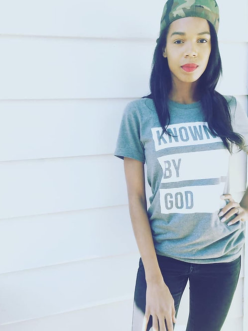 """""""Known by God"""" shirt"""