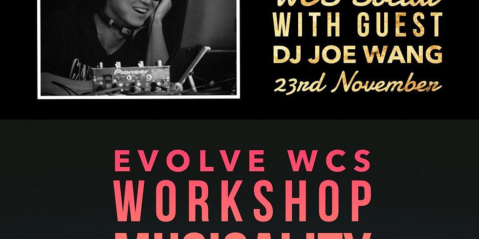 November Musicality 1 Workshop & Evening Social Dance with Guest DJ Joe Wang