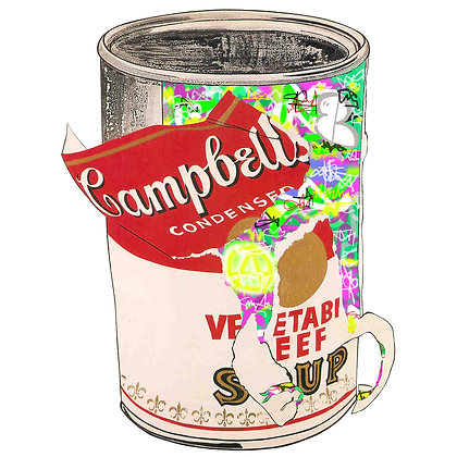 Mr HOLLYWOOD X Andy Warhol Campbells Soup 10/150