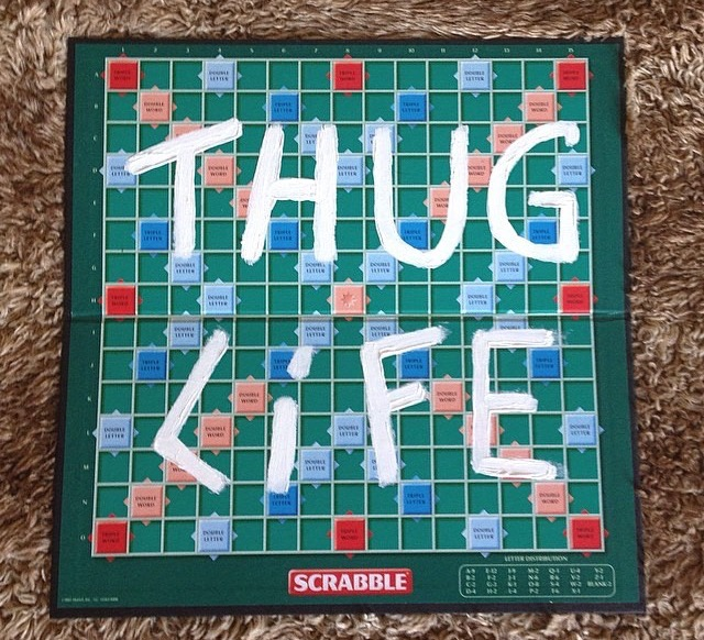 THUG LIFE Scrabble X Mr HOLLYWOOD