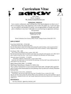 Banksy CV