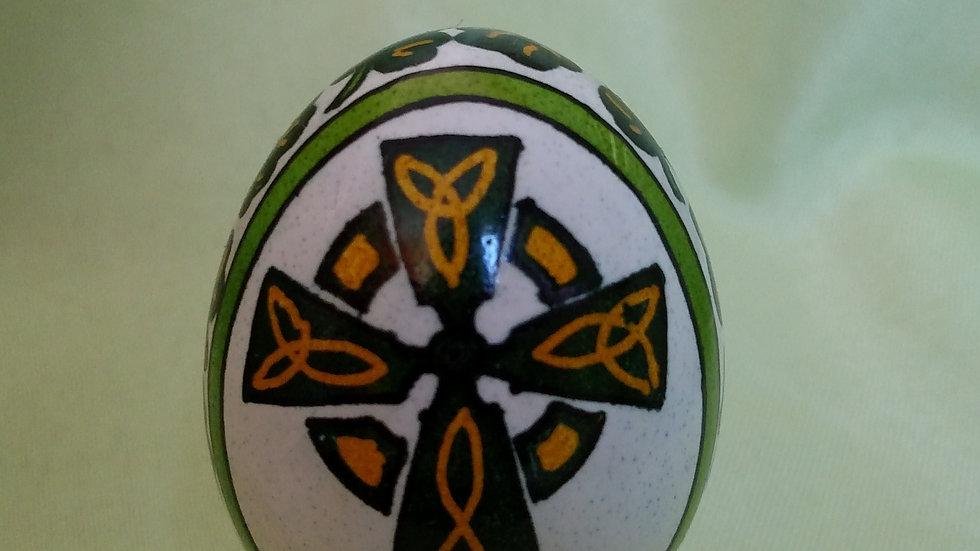 Celtic Cross - Chicken Egg Pysanky