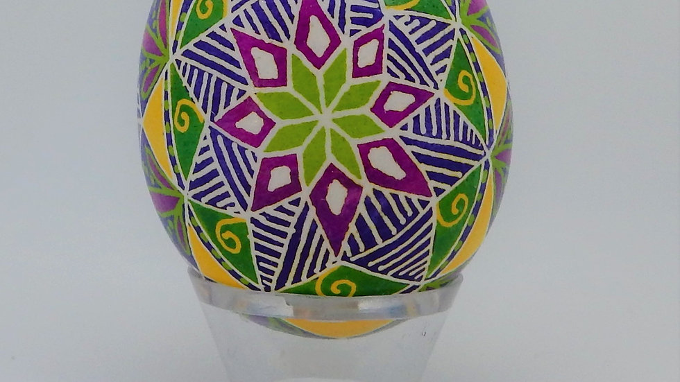 Mandala Style Chicken Egg Pysanky
