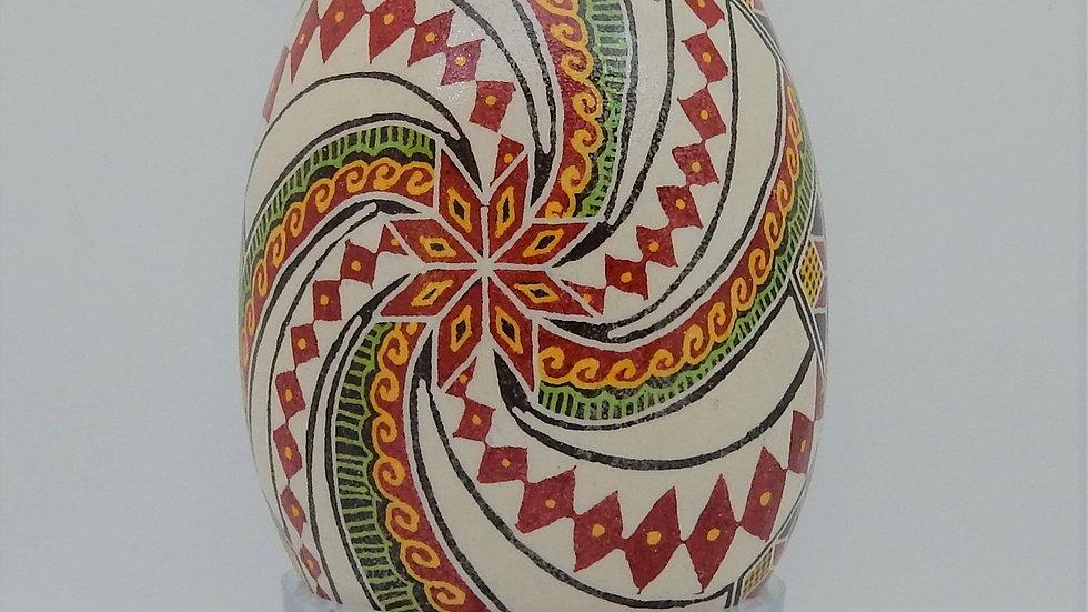 Christmas Joy Goose Egg Pysanky