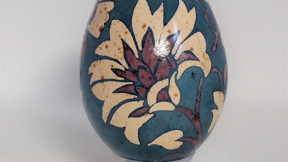 Stone Flowers on Turkey Egg Pysanky