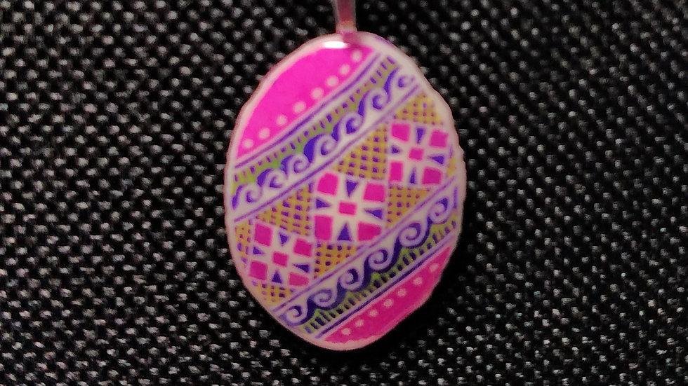 Pink Diagonal Pendant