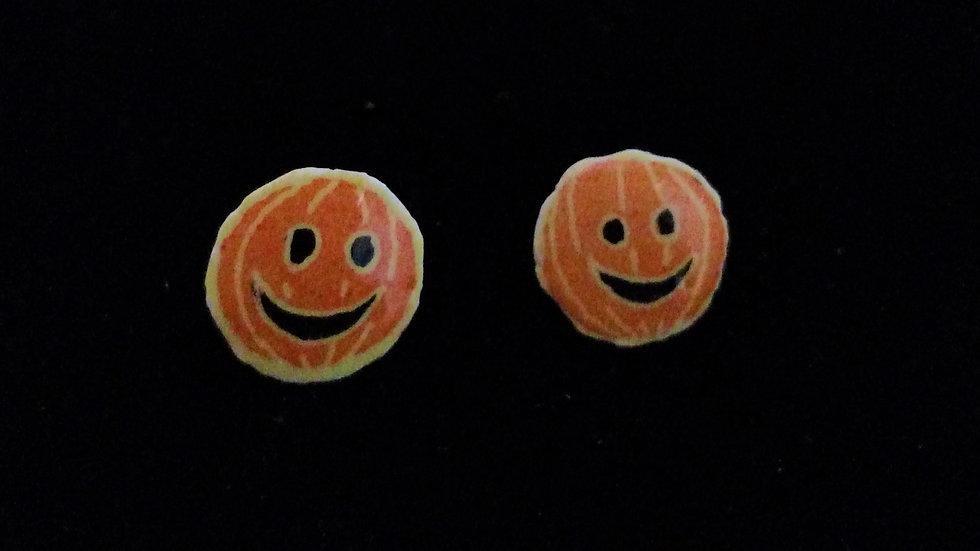 Pumpkin Post Earrings