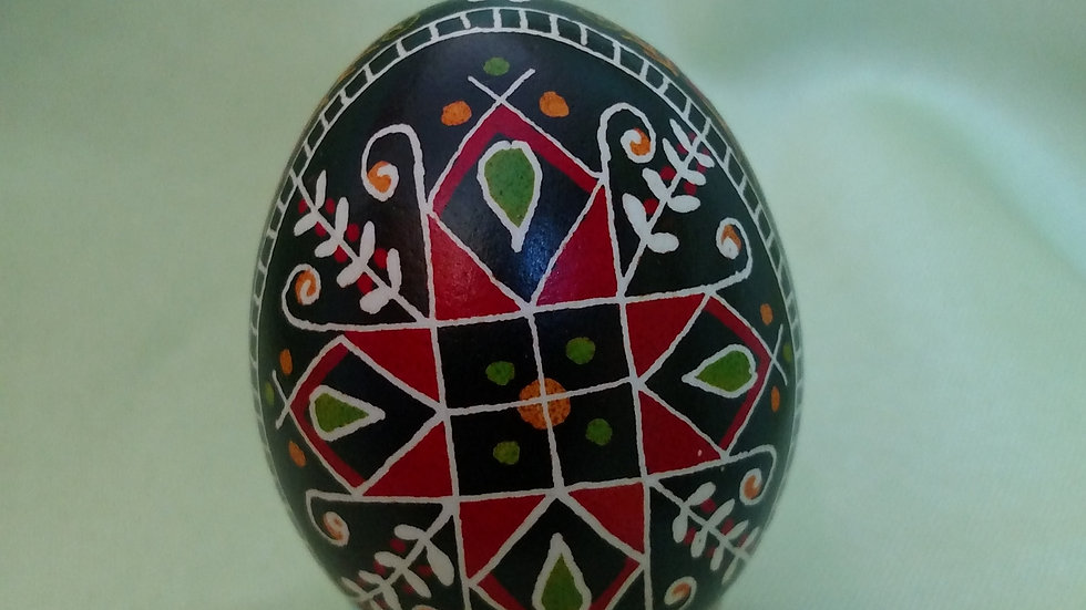 Red Cross - Chicken Egg Pysanky