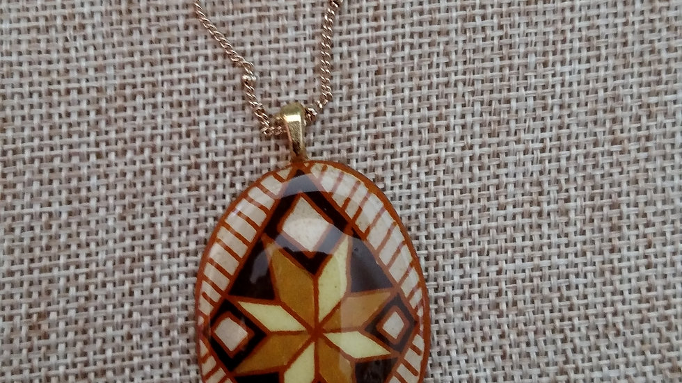 Brown and Gold Star Pendant