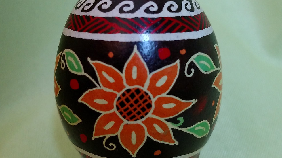 Sunflowers - Chicken Egg Pysanky