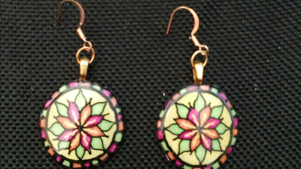 Art Deco - Mandala Style Earrings