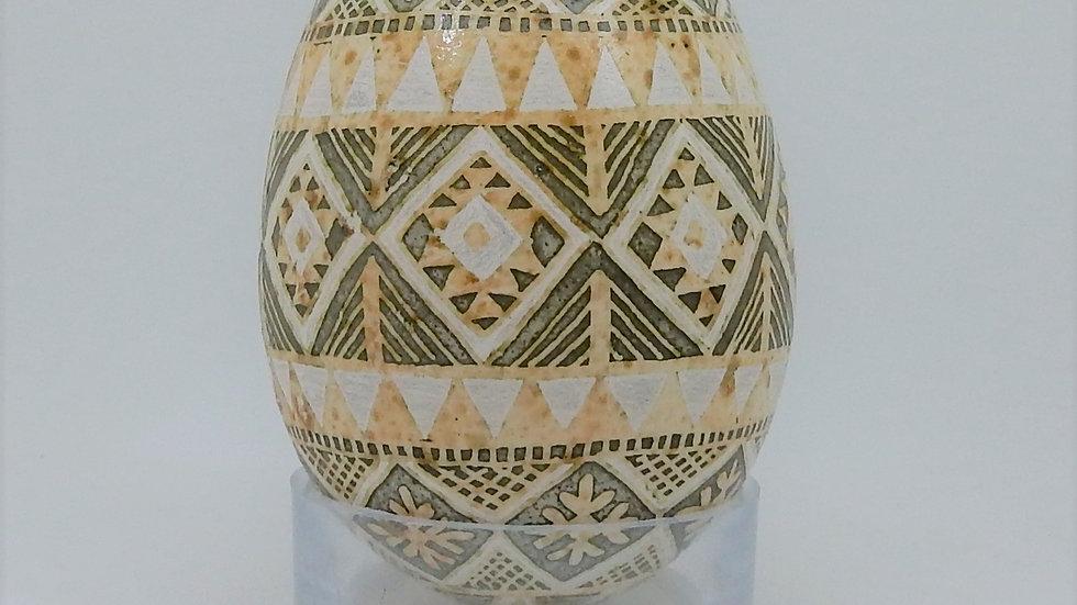 Banded Turkey Egg Pysanky