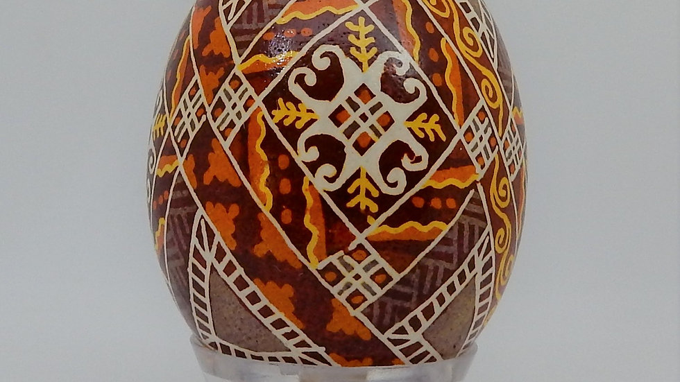 Harvest Chicken Egg Pysanky