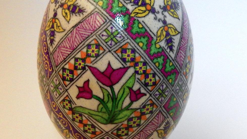 Spring Buzz - Rhea Egg Pysanka