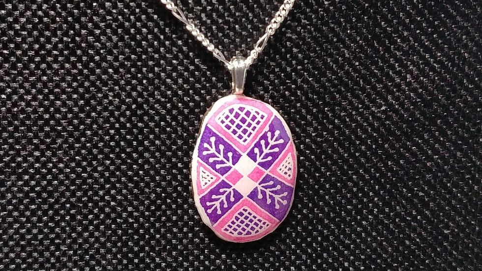 Pink and Purple Pendant