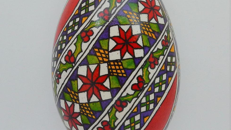 Christmas Goose Egg Pysanky