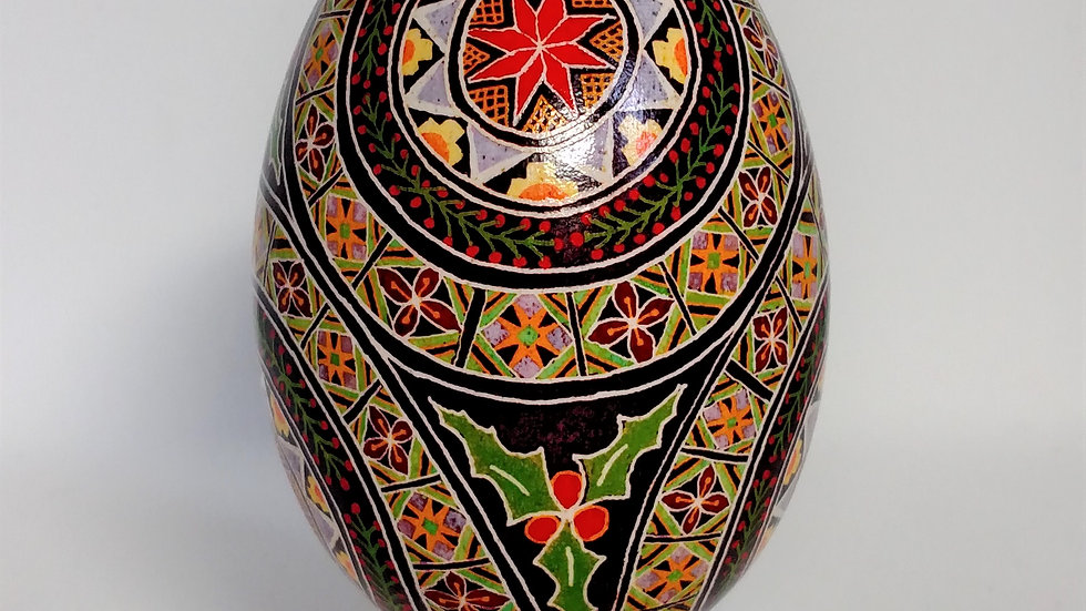 Christmas Star Goose Egg Pysanky