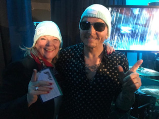 Matt Sorum, the Grammy award winning musician of Guns N Roses, with our Co-Founder and Executive Director Inge Relph