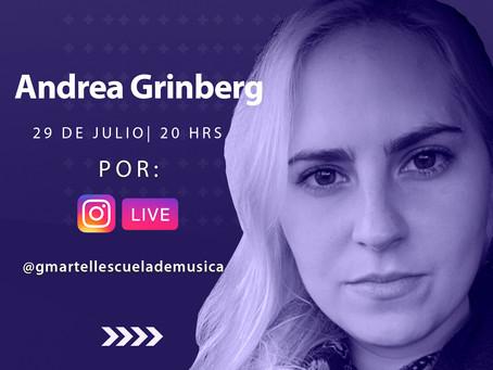 ANDREA GRINBERG POR INSTAGRAM LIVE