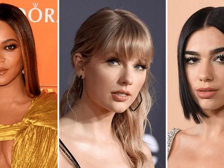 Beyoncé, Taylor Swift, Dua Lipa,  son algunos de los nominados a los Premios Grammy 2021.