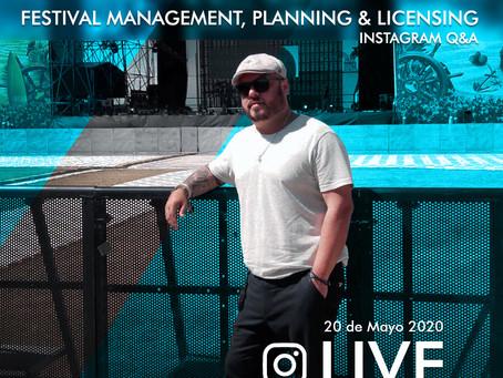 """Festival management , Planing & Licensing"""" con Julio César Celada"""