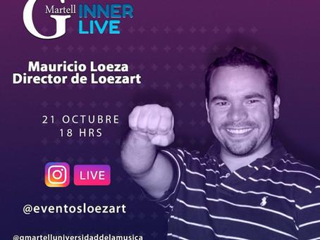 Inner Live con Mauricio Loeza Director de Loezart .21 de Octubre a las 18hrs.
