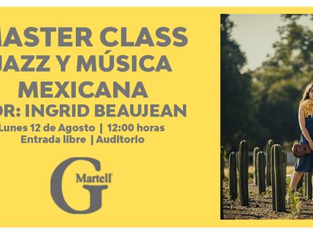 Master Class - Jazz y Música Mexicana con Ingrid Beaujean
