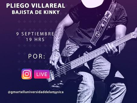 No te pierdas nuestro Instagram Live con Pliego Villareal, Bajista de Kimky.