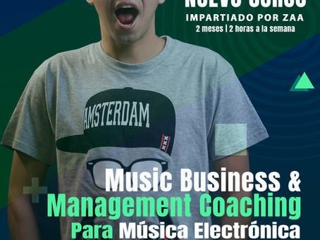 Music Business & Management coaching para Música Electrónica impartido por Zaa