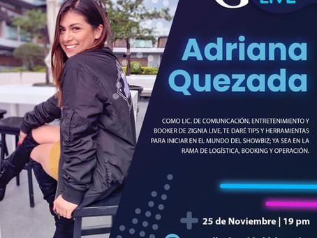 Instagram Live con Adriana Quezada