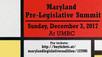 Maryland Pre-Legislative Summit