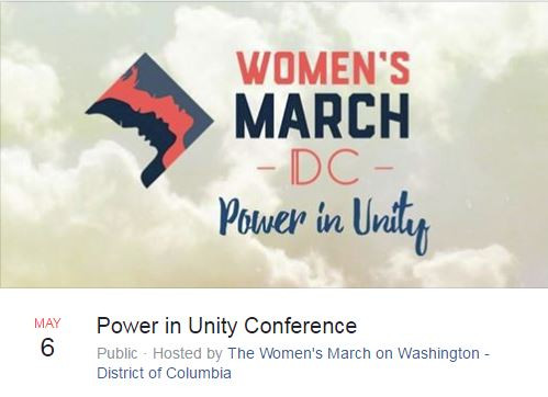 Women's March on Washington's Power in Unity Conference May 6th