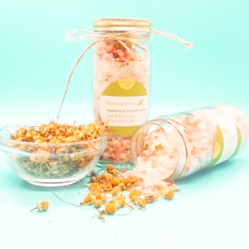 Peppermint & Chamomile scented Bath & Foot Soak (with Essential Oils)