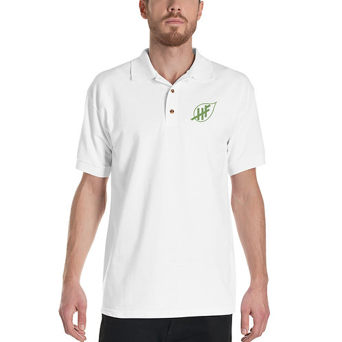 Men's Short Sleeve Embroidered Polo Shirt