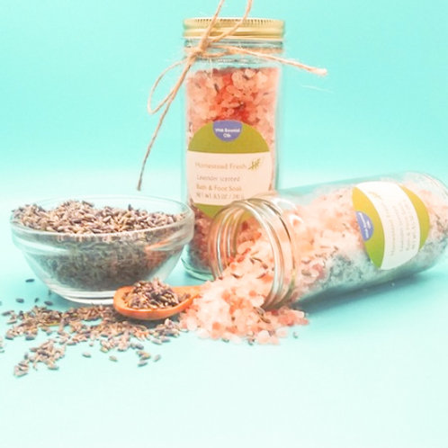 Lavender scented Bath & Foot Soak (with Essential Oils)
