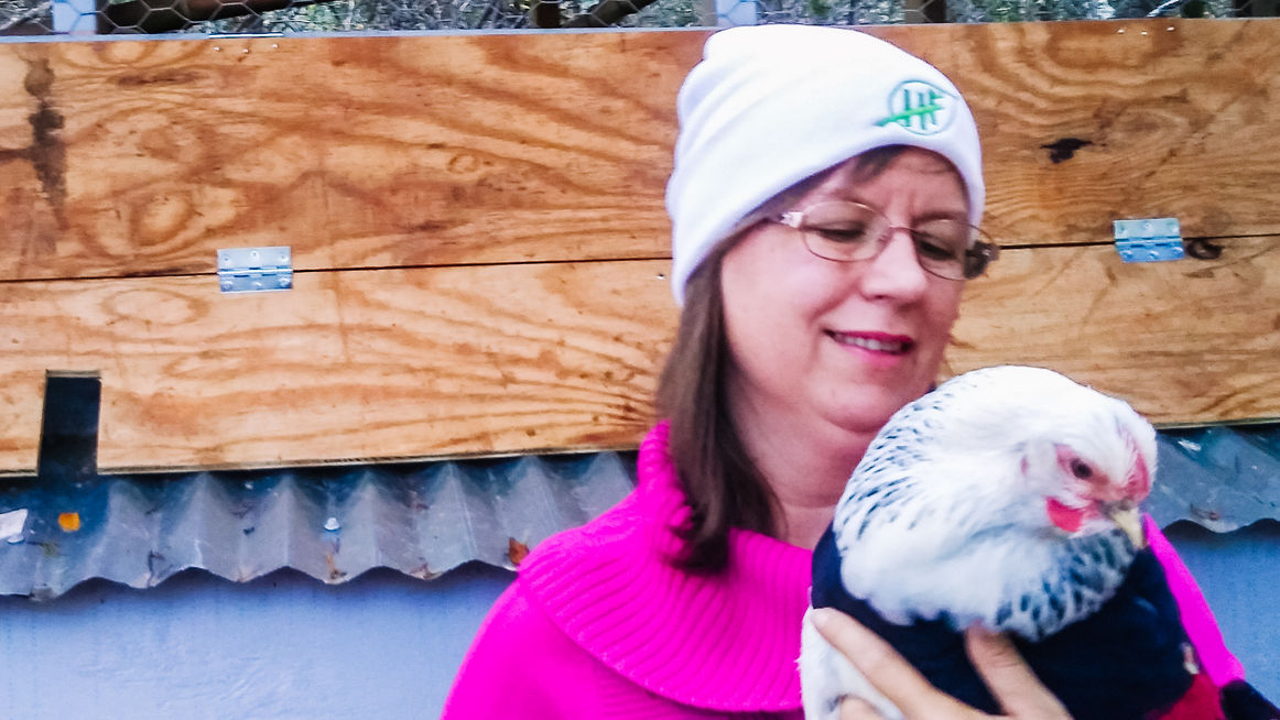 Loving on our feathered friends.